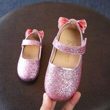 Детские сандалии для малышей; обувь для девочек; свадебные сандалии с бантом для маленьких девочек; Сникеры с блестками; Детские повседневные тонкие туфли;#7