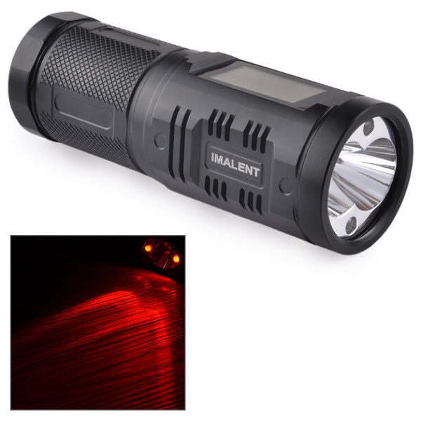 IMALENT SA04 2 -LED Cree XM-12 LCD Touch Screen Flashlight +IPX-8+Military Specification Type III-hard anodized
