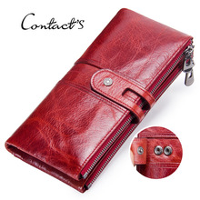 Genuine Leather Slim Wallet Women Mini Credit Card Holder Phone Bag Coin Purse Long Wallets Female Money Handle Bag Zipper Pouch цена 2017