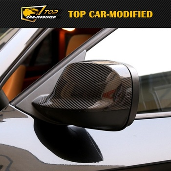 Free shipping carbon auto spare parts rearview side mirror cover caps replacement for bmw X1 10-12
