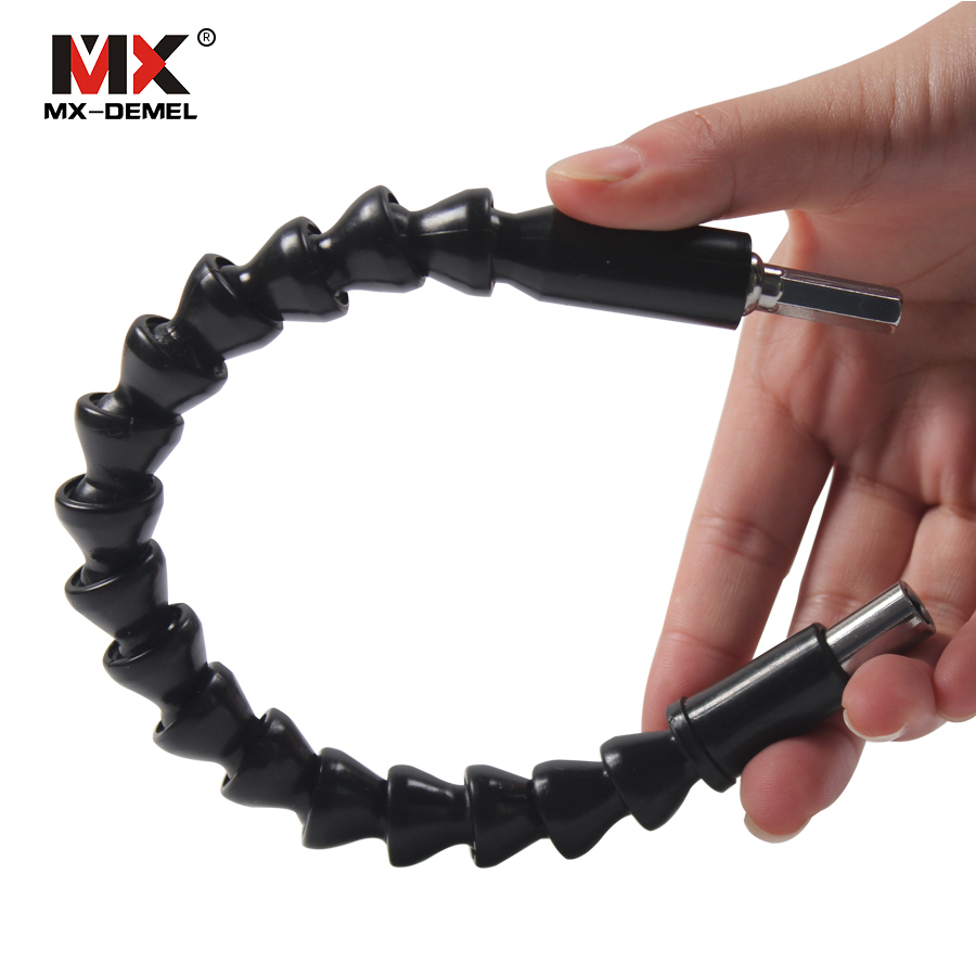 MX-DEMEL 295mm Flexible Shaft Connecting Link For Electric Drill Connection Shaft Bits Extention Screwdriver Power Tools Drills