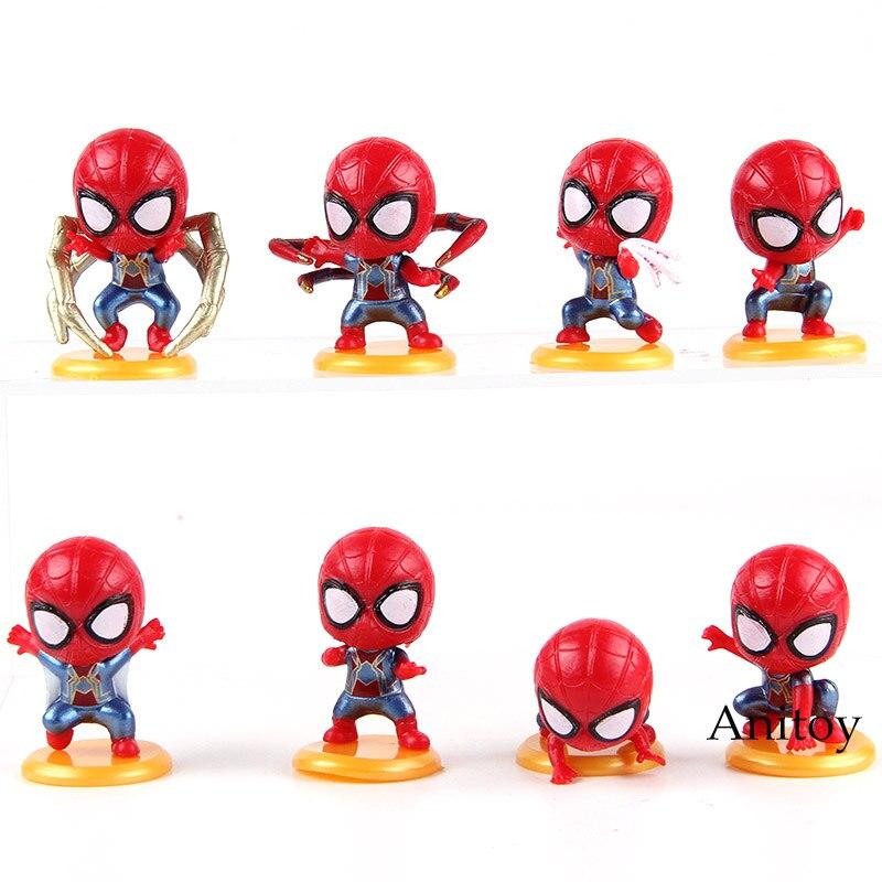 font-b-marvel-b-font-super-hero-spiderman-iron-spider-q-version-pvc-spider-man-action-figure-collectible-model-toys-for-boys-8pcs-set