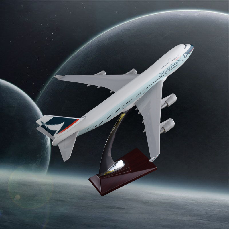 32cm B747 Cathay Pacific Resin Aircraft Model Boeing 747 Airplane Airways Model International Aviation Plane Model Stand Craft xx2858 jc hongkong b747 200f wings vr hvy 1 200 commercial jetliners plane model hobby