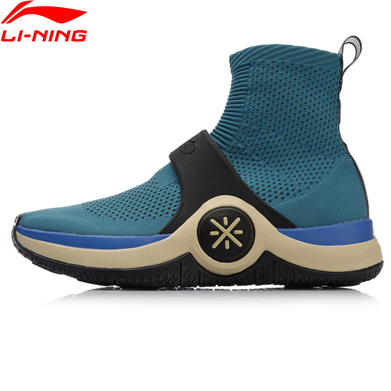 Li-Ning Unisex Wade WOW 6 Cushion Culture Shoes Mono Yarn LiNing Cloud Sock-Like Sneakers Breathable Sport Shoes AGWN026 XYL180