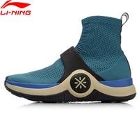 Li Ning Unisex Wade WOW 6 Cushion Culture Shoes Mono Yarn LiNing Cloud Sock Like Sneakers Breathable Sport Shoes AGWN026 XYL180
