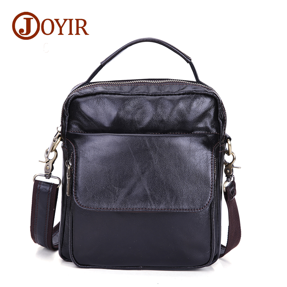 JOYIR 2017 New Men Casual Small Genuine Leather Shoulder Bags Leather Messenger Crossbody Travel Bag Handbag for Men Male 8716 hot 2017 genuine leather bags men high quality messenger bags small travel black crossbody shoulder bag for men li 1611