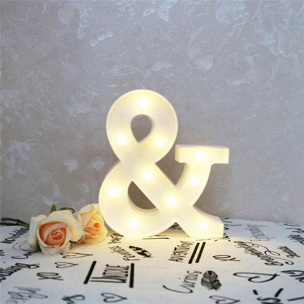 Ampersand Symbol Marquee Letter Lights Alphabet Light Up Sign for Wedding  Home Party Bar Decoration