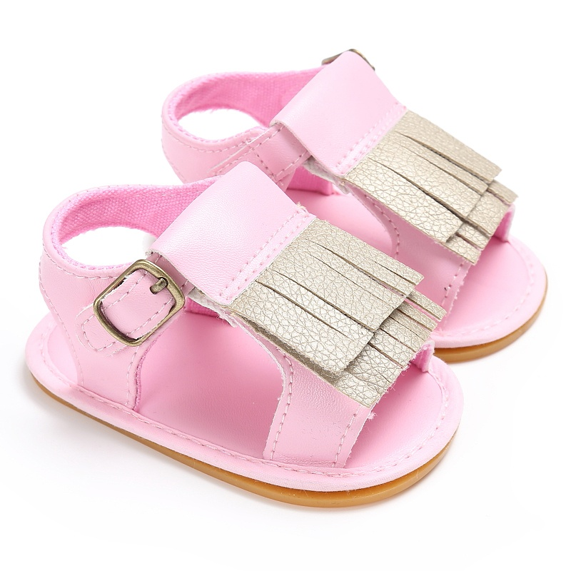 Summer Baby Lace Flower Print Shoes Size Kids Baby Girls Sandals Shoes Skid Proof Toddlers 2017