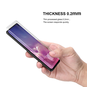 Image 4 - Protetor de tela com impressão digital desbloquear para samsung galaxy s10 uv filme vidro capa completa para s10 + s10 5g vidro temperado