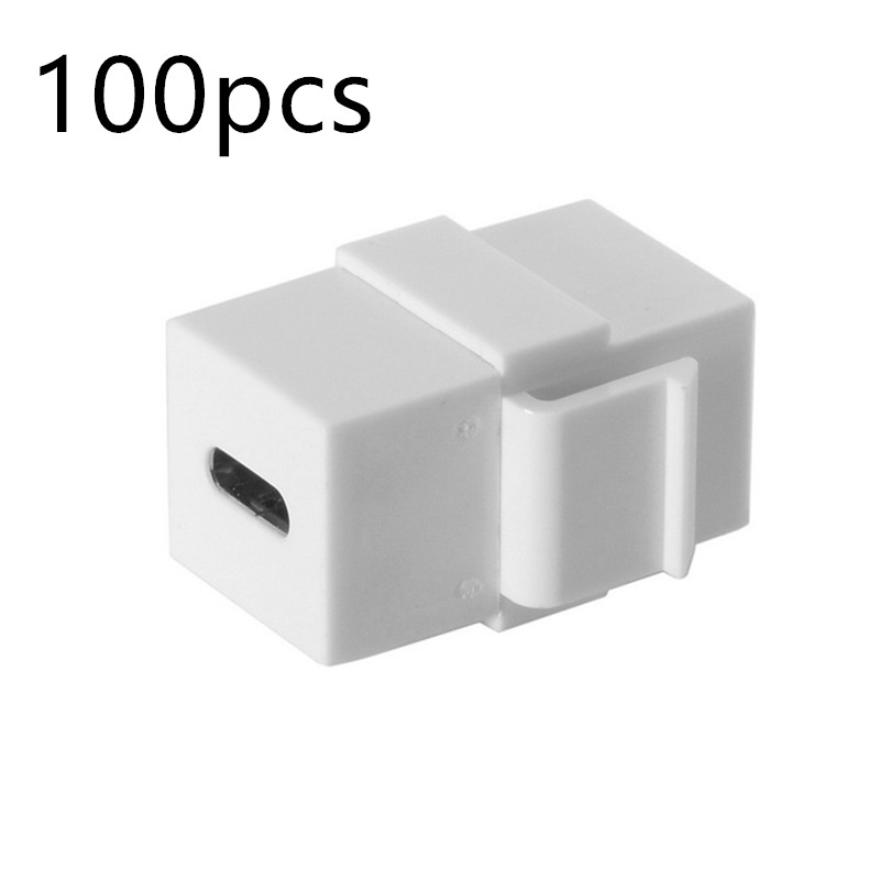 100pcs USB C adapter Type C Female to Female Extension Keystone Jack Coupler for Wall Plate Panel