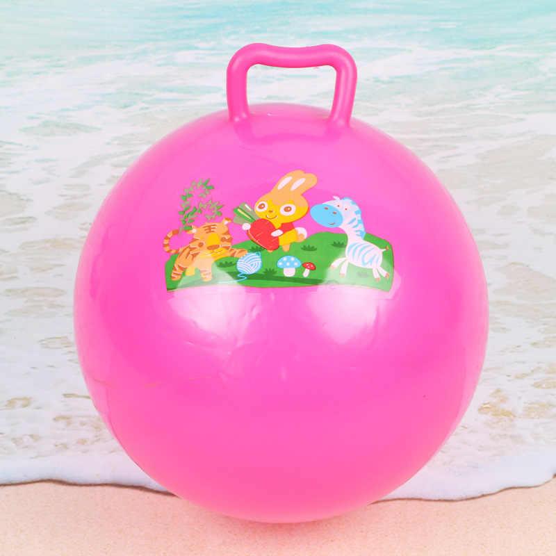 สีสุ่มเด็กทารก Inflatable ของเล่นการ์ตูน Bouncing Ball เด็กชายหาดสระว่ายน้ำยาง Ball เล่นของเล่นกีฬา