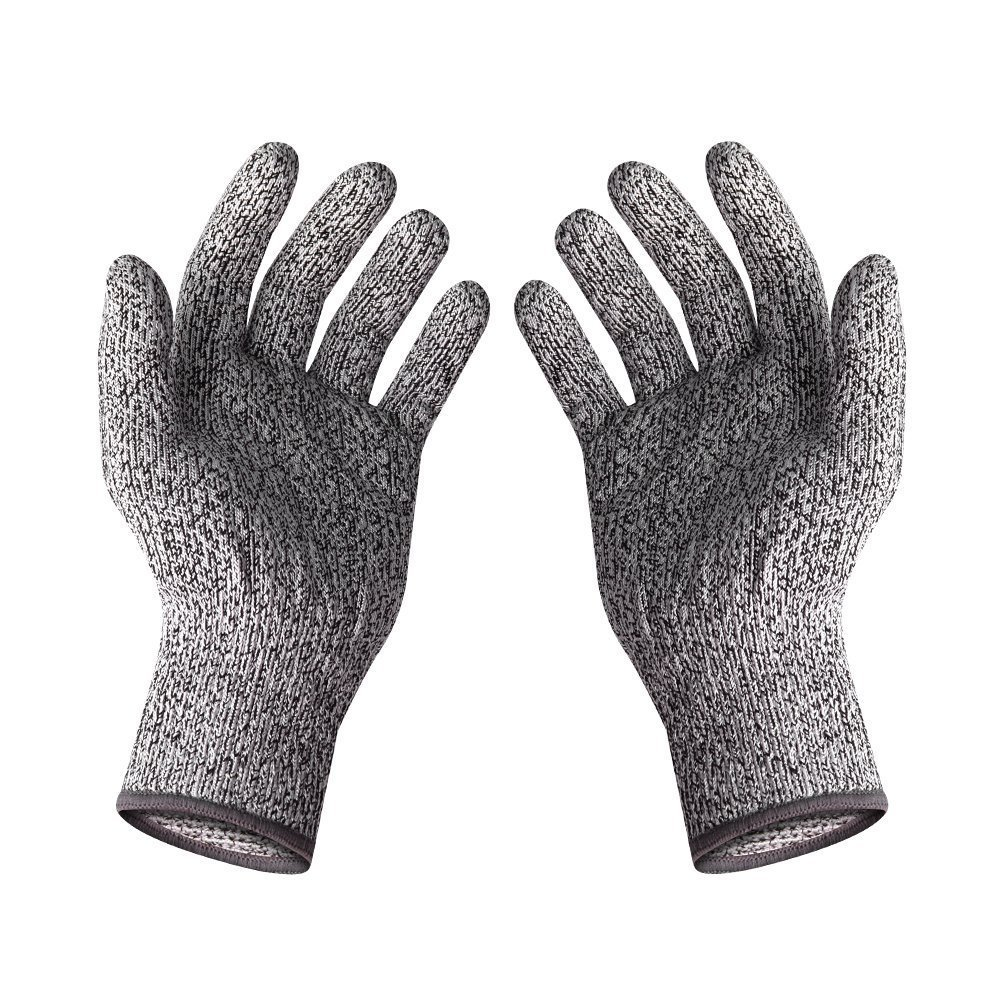 Protear 2 Pairs Of CE Standard level 5 cut resistant gloves Safety Mesh Butcher Anti-cut gloves new black safety cut stab resistant stainless steel wire metal mesh butcher gloves cut resistant safety gloves