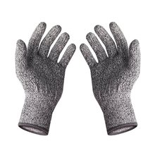 Protear 2 Pairs Of CE Standard level 5 cut resistant gloves Safety Mesh Butcher Anti-cut gloves