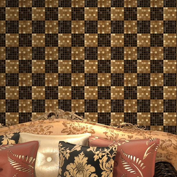 Купить с кэшбэком High-grade Non-woven Wallpaper Modern Mosaic Restaurant Hotel Bar KTV Waterproof Foil Decorative Wall Paper Roll