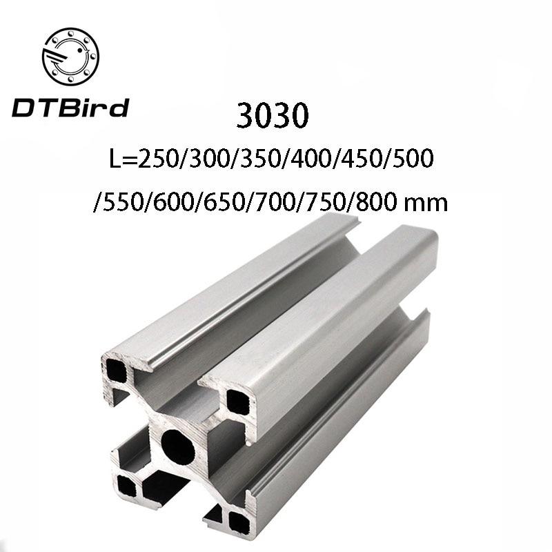 3D Printer Parts 3030 Aluminum Profile European Standard Anodized Linear Rail Aluminum Profile Extrusion 3030 Extrusion