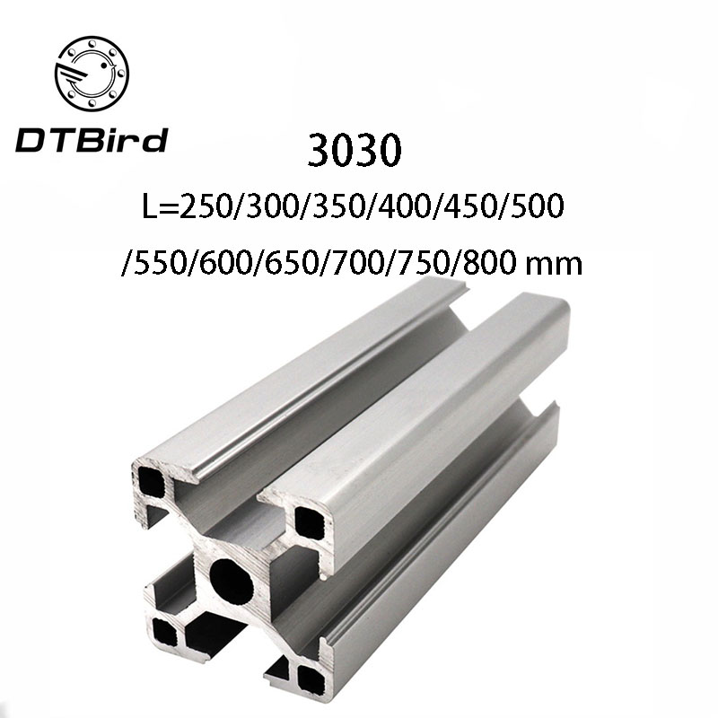3D Printer Parts <font><b>3030</b></font> Aluminum Profile European Standard Anodized Linear Rail Aluminum Profile Extrusion <font><b>3030</b></font> Extrusion image