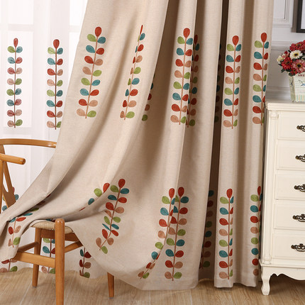 Nice Free Shipping Blackout Fluid Systems End Product Curtain Custom Made  Embroidered Small Fresh American Country Curtains