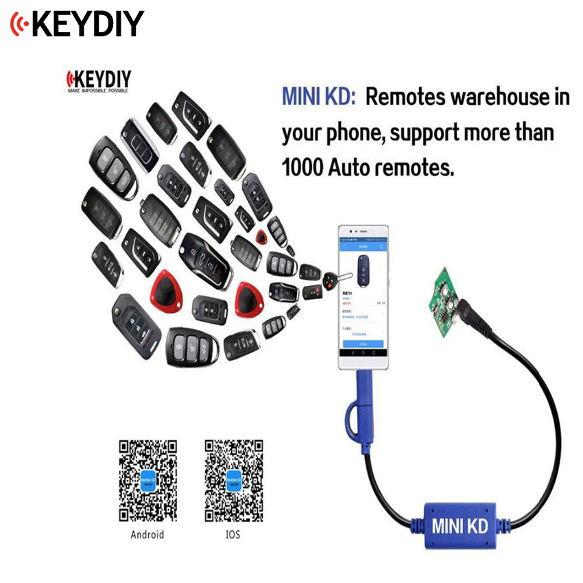 KEYDIY Mini KD Remote Key Generator Remotes Support