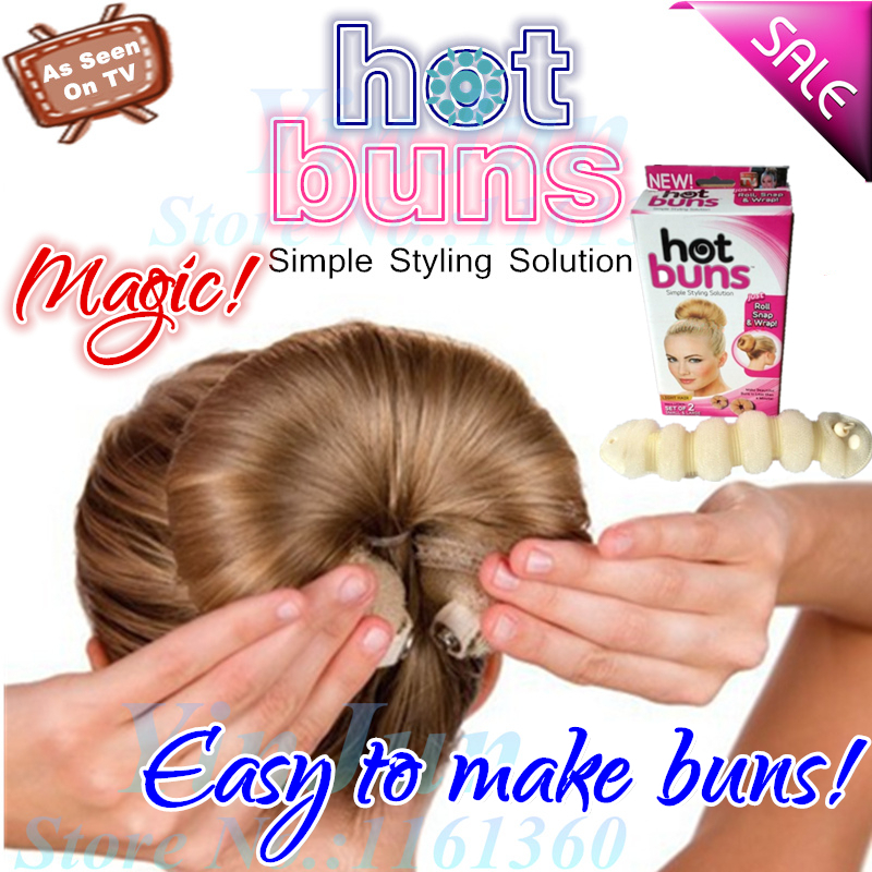 Hot 2pcs 1 Large Small Elegant Magic Buns Maker Hair Styling Tools Accessories Bride Headband Bow Rope As Seen On Tv In From