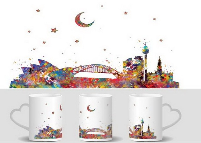 Sydney Australia Mugs Heat Changing Color Reveal Mugen Magic Mug Tea Coffee Ceramic Novelty