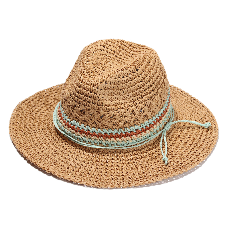 Women Summer Beach Hats Vacation Ladies Straw Hat Panma