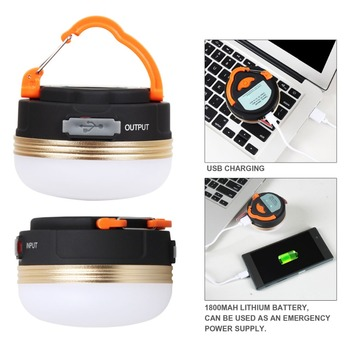 T-SUN Mini Camping Lights 3W LED Camping Lantern Tents lamp Outdoor Hiking Night Hanging lamp USB Rechargeable 3