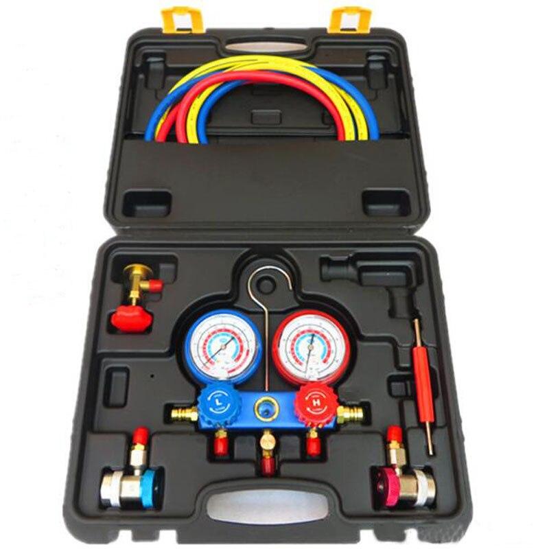 Compteur réfrigérant résistant aux chocs et aux collisions de précision pour les outils de fluoration automobile groupe de manomètre réfrigérant