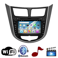Two Din 7 Inch Car DVD Player For HYUNDAI Verna I25 Solaris 2011 With 3G Host