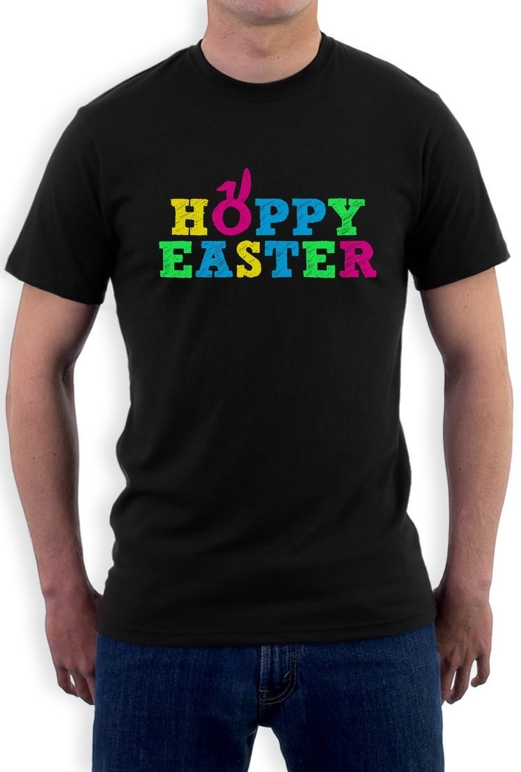 Design t shirt for holiday - Cheap T Shirt Design Gildan Crew Neck Men Hoppy Easter Happy Easter Funny Cute Holiday Gift