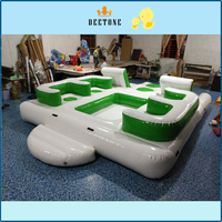 2018 Cheap inflatable water floating sofa/ inflatable water floating bed for summer