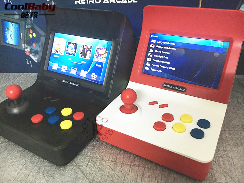 Coolbaby RS-07 4.3inch High-definition Color Screen Mini Handheld Arcade Double Game Console Nostalgic Children Retro gameCoolbaby RS-07 4.3inch High-definition Color Screen Mini Handheld Arcade Double Game Console Nostalgic Children Retro game