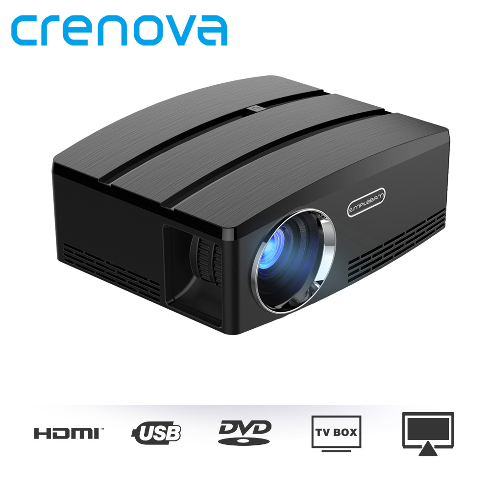 CRENOVA Mini Projector For Full HD Projector Max Resolution 4K*2K For Home Theater Movie Proyector With Android 6.1 OS Version