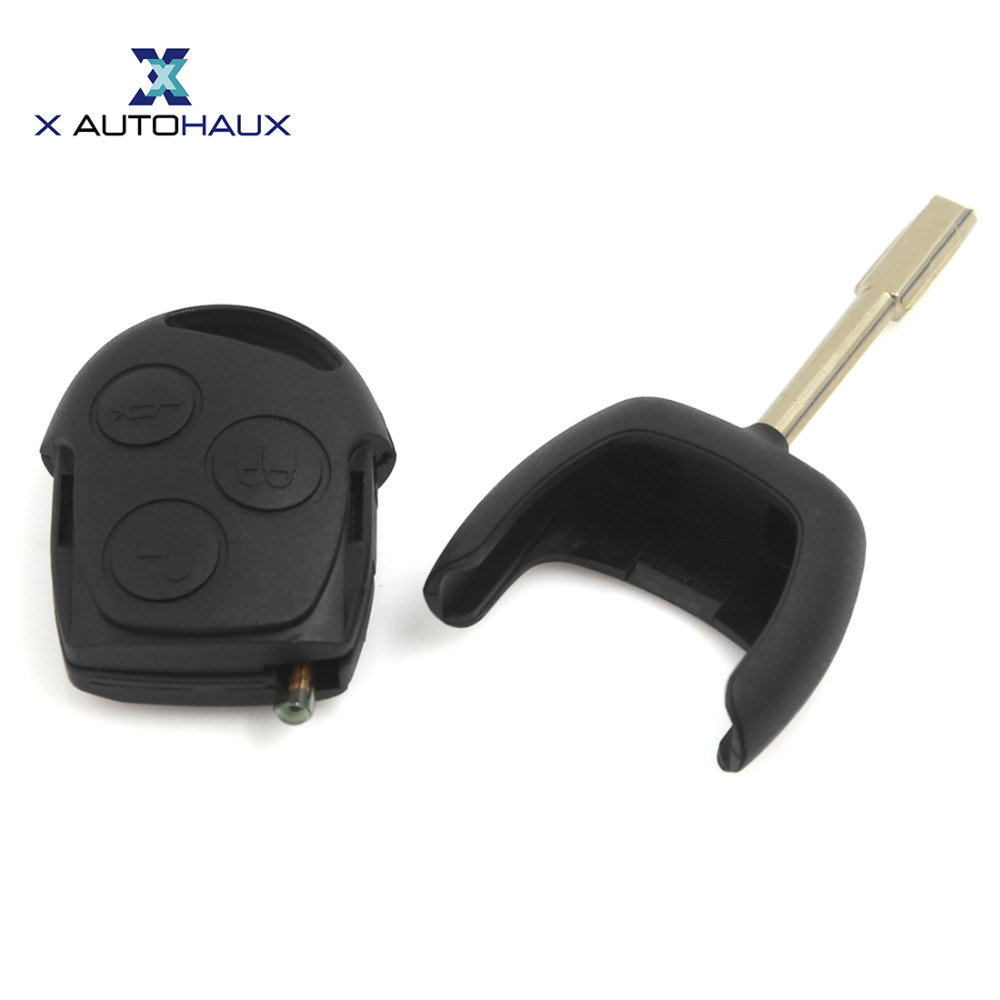 X AUTOHAUX 3 Button Car Keyless Entry Remote Key Transmitter 433MHz 4D60 Chip For Mondeo Fiesta For Focus 1998-2004 KA 2002-2008