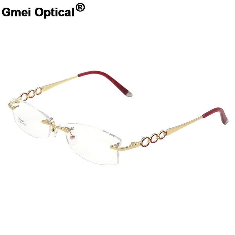 Gmei Optical S2607 Rimless Eyeglasses Frame for Women Rimless Eyewear Glasses