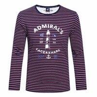 Tace & Shark брендовая одежда футболка 2017 осенние и зимние человек шеи модный принт Длинные футболки с рукавами миллиардер футболка