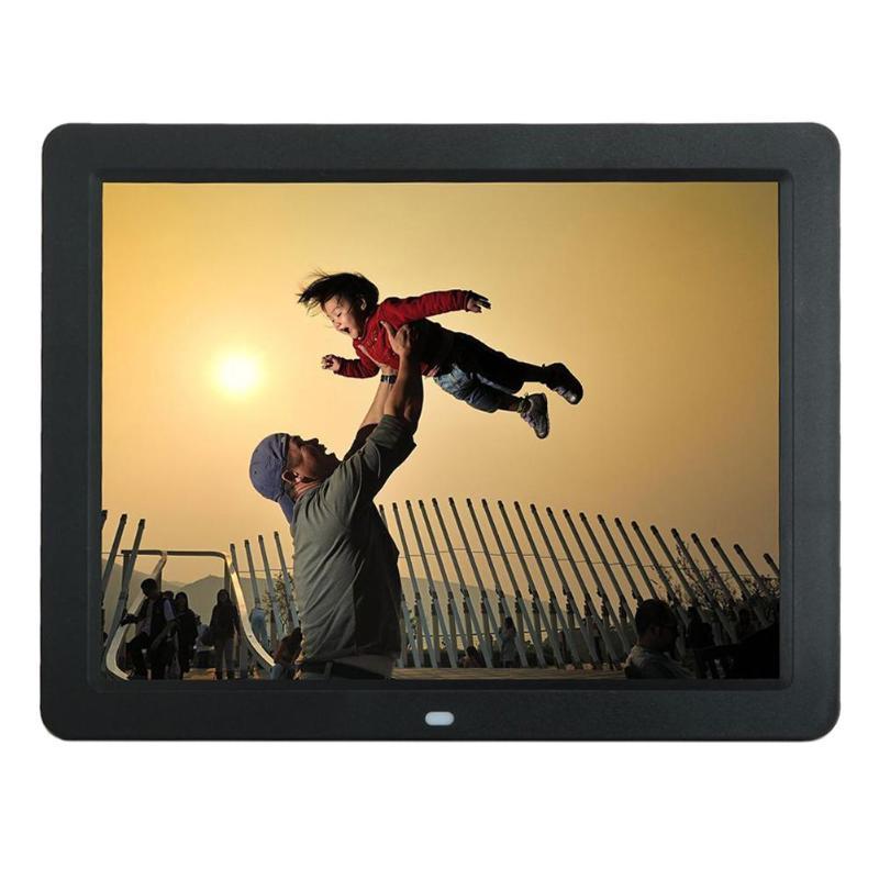 ALLOYSEED 12 дюймов цифровая фоторамка 1280X00 HD светодиодный видео Дисплей электронный альбом Изображение USB MP3 музыкальный плеер часы, календарь