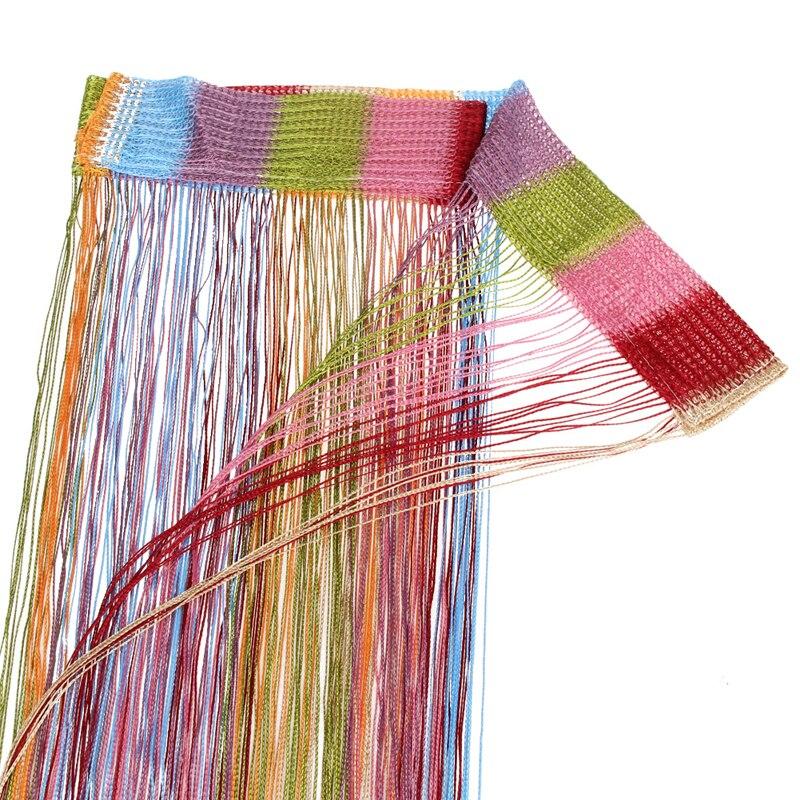 1 Pcs 7 Gemengde Kleuren String Gordijn Line String Gordijn Cortinas Lage Elastische Garen Gordijnen 200 Cm X 100 Cm