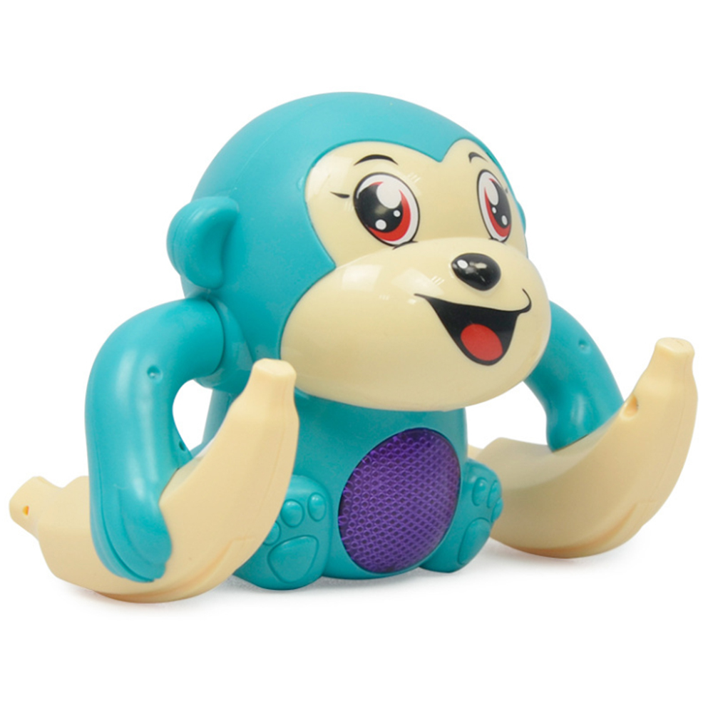 1 PCS Random Color Delivery Light Sound Fun Rolling Doll Electric Tumble Monkey Toy Voice Control Animal Model Toy