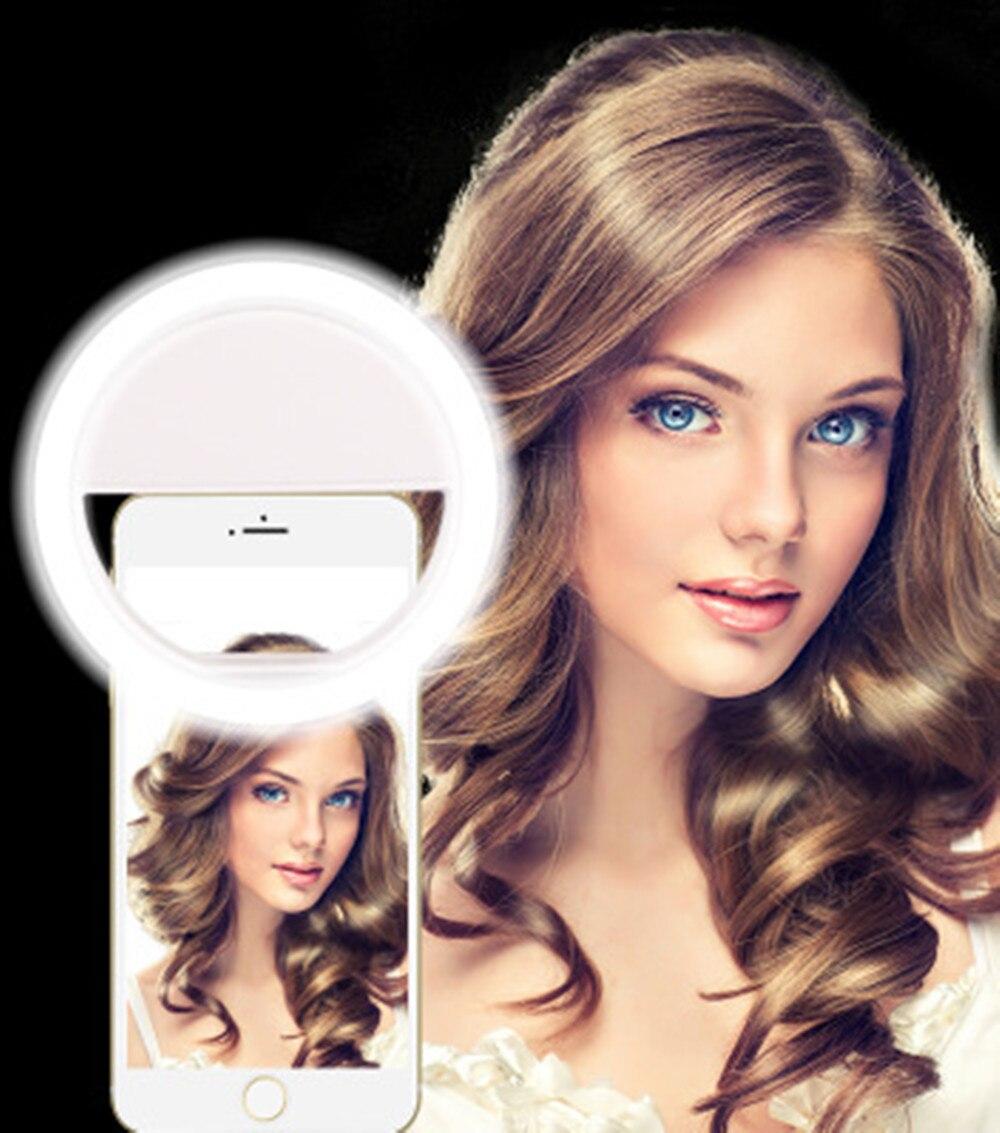 JRGK Universel LED Photographie selfie lumière pour Iphone lentille flash téléphone Anneau lumière Pour iPhone 7 PLUS Samsung Huawei Xiaomi lentille