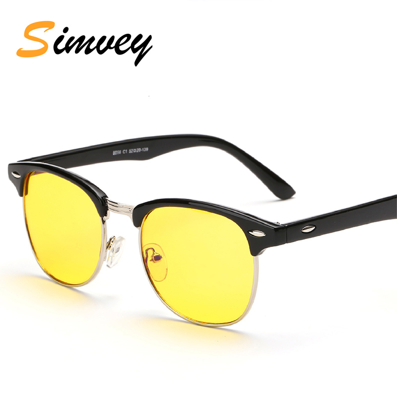 Simvey Fashion Brand Designer Mens Computer Glasses Blue Light Filter Glasses Half Frame Rim Anti Blue Ray Gaming Glasses