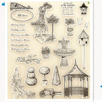 Big Size Climate Transparent Silicone Stamp Clear Stamp Seal For Scrapbooking Stamp Decorative DIYrubber Stamp Free