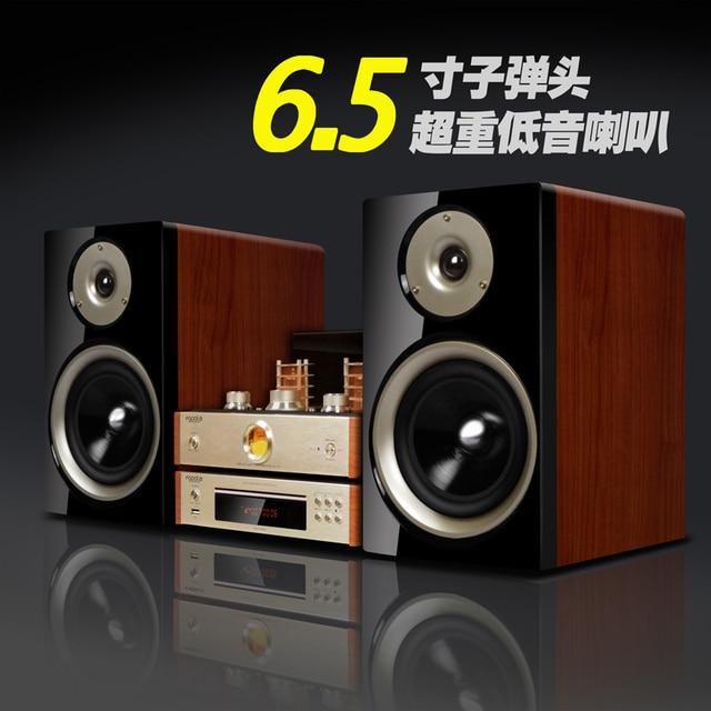 Desktop HiFi Set DVD 60W Vacuum Tube Amplifier 65 Inch Bookshelf Speaker 110