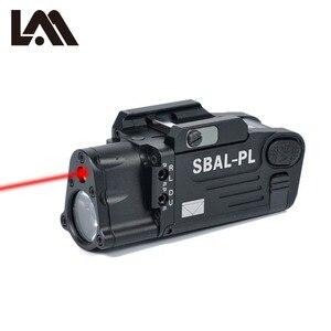 Image 2 - Taktik CNC bitmiş SBAL PL silah ışık el feneri Combo kırmızı lazer tabanca tüfek sabit ve flaş silah ışık CZ 75