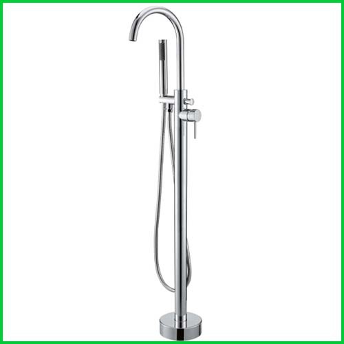 Free Stand Floor Mounted Clawfoot Tub Filler Shower with Hand Shower Hot Cold Control Bath tub faucet