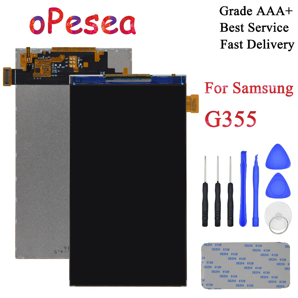 oPesea 4.5'' For Samsung DUOS Core 2 SM-<font><b>G355H</b></font> G355M <font><b>G355H</b></font> G355 LCD <font><b>Display</b></font> Screen Panel Monitor Module Replacement Parts image
