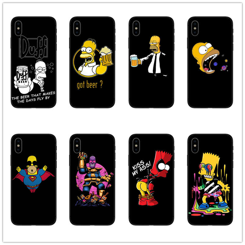 Latest Collection Of Cartoon Homer J Simpson Phone Case For Iphone 5 5s Se 6 6s 7 8 P Plus X Xr Xs Max Cute Funny Fashion Silicone Phone Cases Cover Punctual Timing Phone Bags & Cases