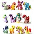 Радуга лошади Polly игрушки аниме фигурки игрушки funko поп lps игрушки maynkraft Луна/Солнце Принцесса 12 шт. Мини-лошади ПВХ