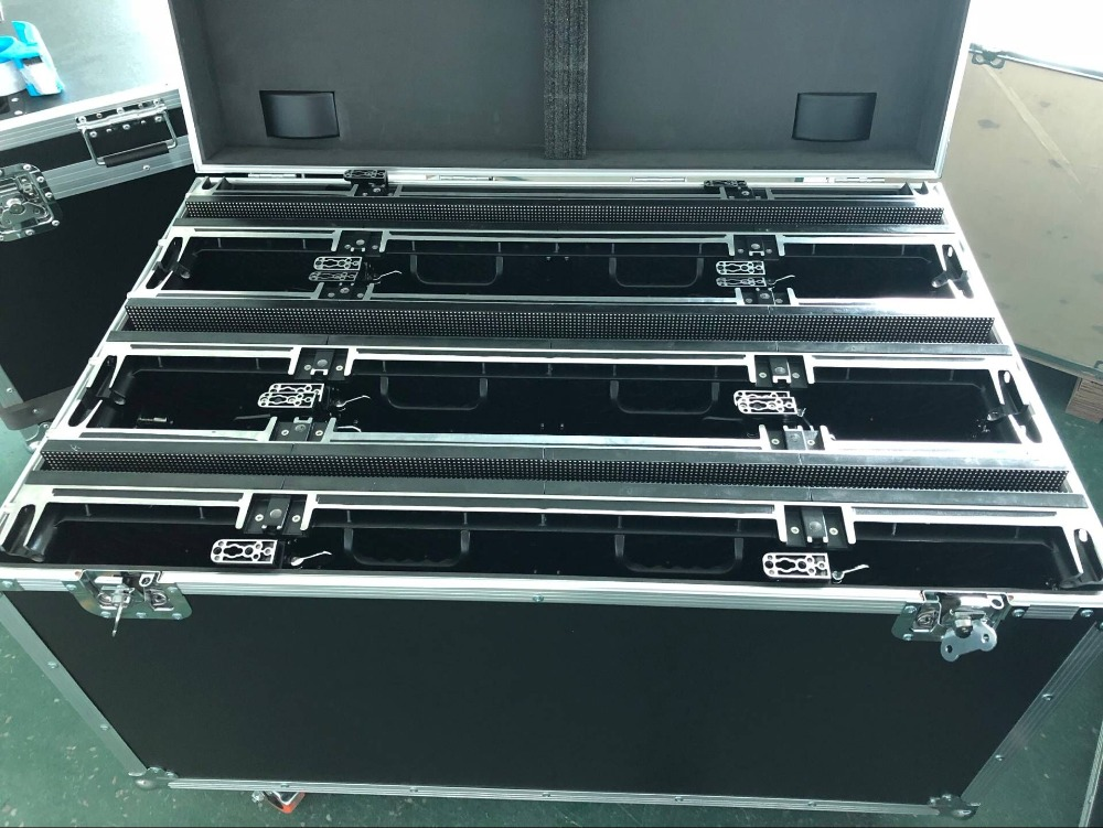 P3.91 Die Casting Aluminum Flight Case,500mmX1000mm Aluminium Die Casting Cabinet, P3.91 P4.81 Flight Case, 1 Pack 6 Flight Case
