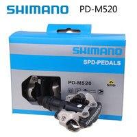 Shimano PD-M520 самоблокирующийся монолитный SPD велосипед педаль M520 MTB горный велосипед Padals с оригинальными PD22 Cleats