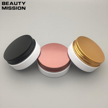 40Pcs 50g white Cream Jar,Empty Plastic Cosmetic Container,Eyeshadow Cream Box,Small Sample Makeup Sub-bottling With Screw Cap